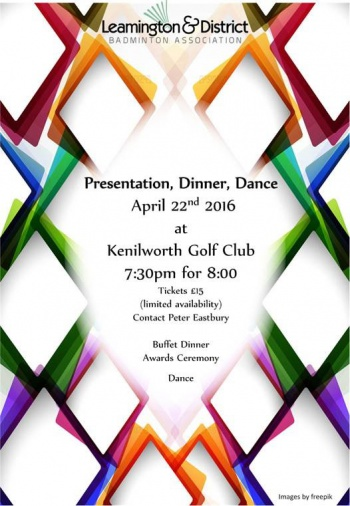 Leamington Dinner Dance & Annual Presentation 2016